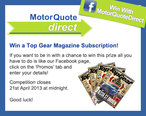 MQD Facebook Competition Top Gear Magazine